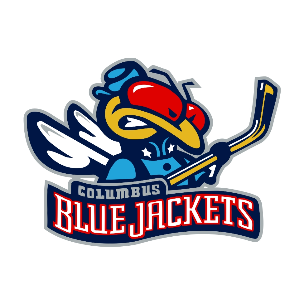 Columbus Blue Jackets Mascot Die Cut Decal