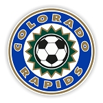 Colorado Rapids Round  Die Cut Decal