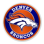 Denver Broncos Round Die Cut Decal