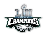 Philadelphia Eagles Super Bowl 52 Champions Die Cut Decal