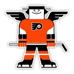 Philadelphia Flyers Mascot  Die Cut Decal