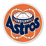 Houston Astros Retro Round Die Cut Decal