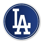 Los Angeles Dodgers Round  Die Cut Decal