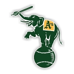 Oakland Athletics Mascot  Die Cut Decal