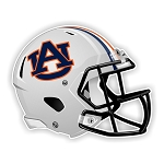 Auburn Tigers Football Helmet Die Cut Decal