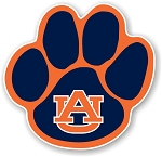 Auburn Tigers  Paw (Blue) Die Cut Decal