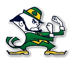 Notre Dame Fighting Irish Mascot  Die Cut Decal