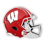 Wisconsin Badgers Football Helmet Die Cut Decal