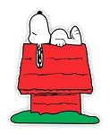 Snoopy Sleeping on House  Die Cut Decal