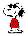 Snoopy Joe Cool  Die Cut Decal