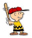 Charlie Brown with Bat Precision Cut Decal
