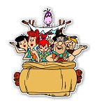 The Flintstones Car  Die Cut Decal