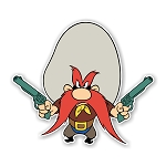 Yosemite Sam   Die Cut Decal