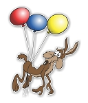 Wile E Coyote with Balloons  Die Cut Decal
