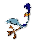 Roadrunner Taking Off  Die Cut Decal
