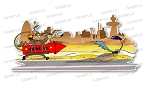 Wile E Coyote ACME Rocket Chasing Roadrunner Precision Decal