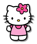 Hello Kitty in Pink Precision Cut Decal