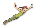 Peter Pan Flying Precision Cut Decal