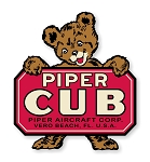 Piper Cub, Vintage Emblem Piper J-3 Die Cut Decal