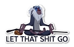 Rafiki Let That Sht Go Precision Cut Decal