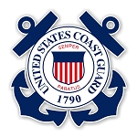 United States States Coast Guard (Blue) Die Cut Decal