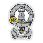 Clan Malcolm Family Name Decal