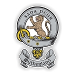 Clan Sutherland Family Name Decal