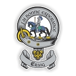 Clan Craig Scottish Family Name Decal