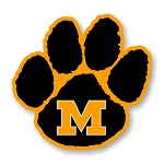 Missouri Tigers Paw ( Mizzou ) Die Cut Decal