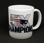 New England Patriots 5 Times NFL Champion 11oz Ceramic Coffee Mug