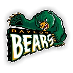 Baylor University Bears Mascot Die Cut Decal