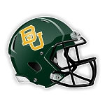 Baylor University Bears Football Helmet (Green) Die Cut Decal