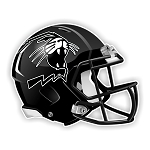 Northwestern Wildcats Black Football Helmet Die Cut Decal