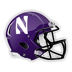 Northwestern Wildcats Purple Football Helmet Die Cut Decal