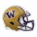 Washington Huskies Football Helmet Die Cut Decal