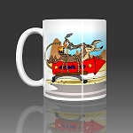 Wile E Coyote ACME Rocket Chasing Roadrunner  Coffee Mug Ceramic 11oz