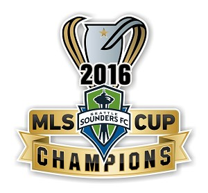 Seattle Sounders 2016 MLS CUP Champions Die Cut Decal