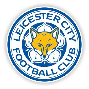 Leicester City  Premier League Round  Die Cut Decal