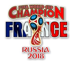 France 2018 FIFA World Cup Champion  Die Cut Decal
