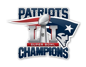 New England Patriots Super Bowl 51 Champions Die Cut Decal