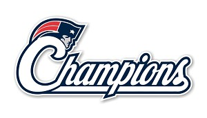 New England Patriots Champions Die Cut Decal
