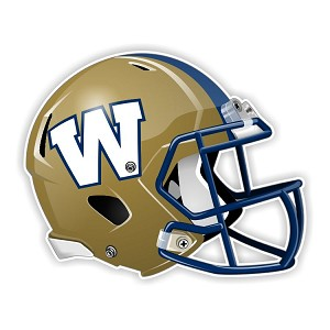 Winnipeg Blue Bombers Football Helmet  Die Cut Decal