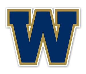 "Winnipeg Blue Bombers 'W""  Die Cut Decal"