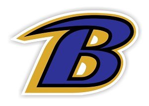 "Baltimore Ravens ""B"" Die Cut Decal"
