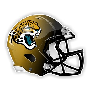 Jacksonville Jaguars Football Helmet  Die Cut Decal