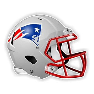 New England Patriots Football Helmet  Die Cut Decal