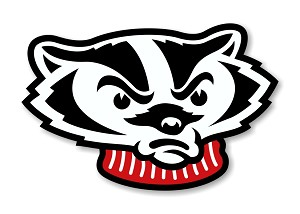 "Wisconsin Badgers "" Bucky Badger "" (Head) Die Cut Decal"