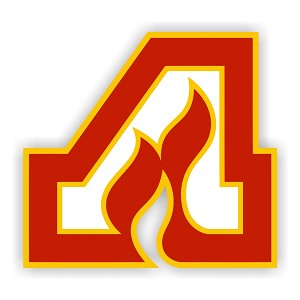 "Atlanta Flames ""A"" Red   Die Cut Decal"