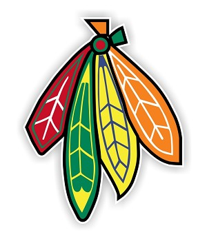 Chicago Blackhawks Feathers  Die Cut Decal