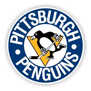 Pittsburgh Penguins Blue  Round   Die Cut Decal